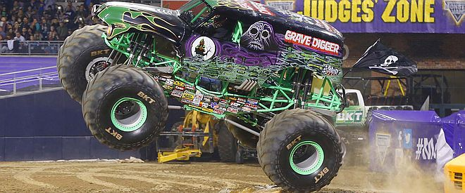 Grave Digger at Work at the Arena!