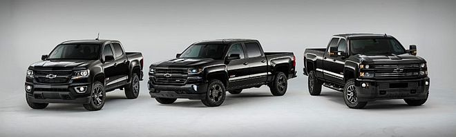 2016 Midnight Special Chevy Silveradon and Colorado Trucks